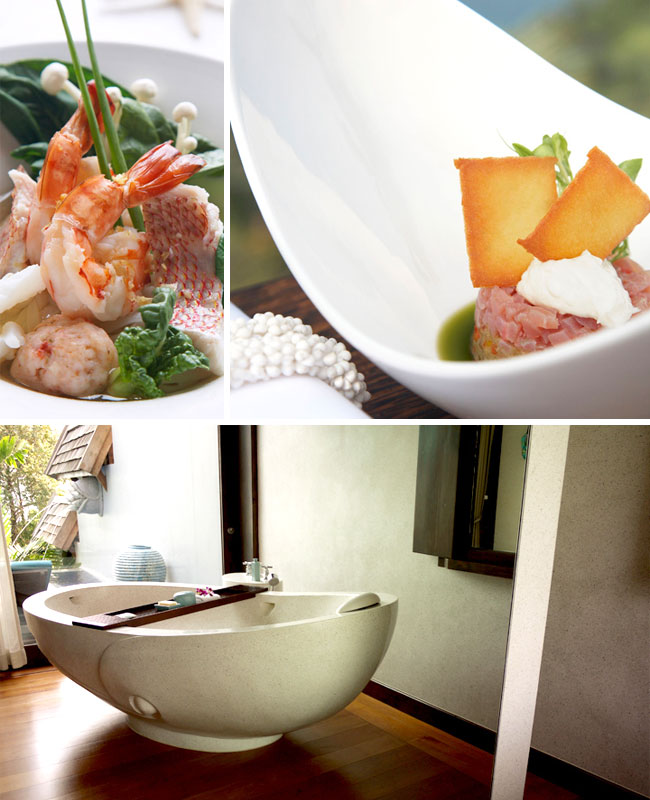 Four seasons koh samui food and villa pictures